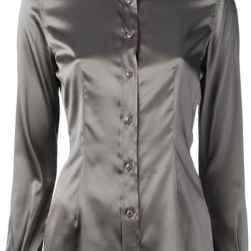 Chantal Satin Blouse Grey