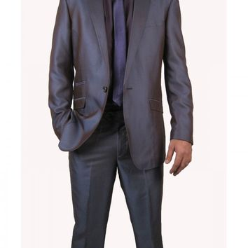Mens Purple two tone shiny two Piece suit (York-46)