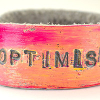 OPTIMIST Petite Cuff SMALL SIZE by LeatherCoutureLV on Etsy