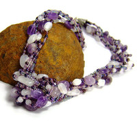 Amethyst Gemstone Necklace by AnandaBijoux on Etsy