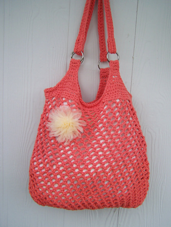 Crochet Beach Bag : Crochet Hobo Bag Market Tote Beach Bag by from SoLaynaInspiration