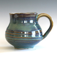 Coffee Mug with Uneven Rim, handmade ceramic cup, coffee cup