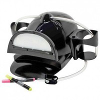 LED Black Light Back Lit Message Drinking Hat | X-treme Geek