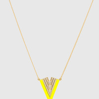 Leo Necklace - Neon Yellow