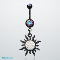 Blackline Tiffany Sun Belly Button Ring