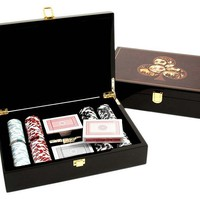 Wood Poker Set, Brown