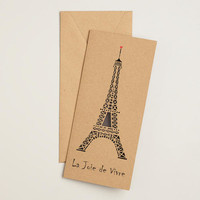 Eiffel Tower Laser-Cut Boxed Cards, Set of 8 - World Market