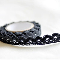Lace Cotton Tape - Black