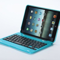 ZPS the Best Price Wireless Bluetooth 3.0 Keyboard and Removable Case Cover for Apple Ipad Mini (Skyblue)