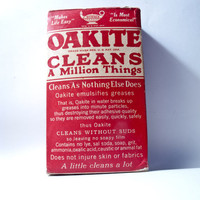 HOUSEHOLD VINTAGE ADVERTISING 1930 Oakite by timepassagesshop