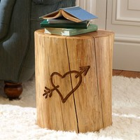 The Emily + Meritt Tree Trunk Side Table