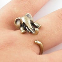 Vintage Elephant Wrap Ring | KejaJewelry - Jewelry on ArtFire