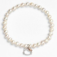 Hello Kitty Diamond & Pearl Stretch Bracelet (Nordstrom Exclusive)