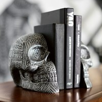 Zio Ziegler Skull Bookends