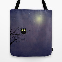 Night Owl ~~ Tote Bag by Irmak Berktas