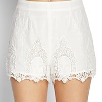Woven Ornate Lace Shorts