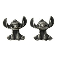 Disney Lilo & Stitch Burnished Silver Earrings