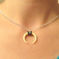 Horn Necklace Crescent Moon