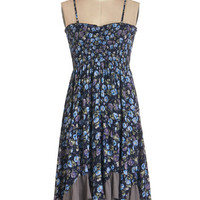 ModCloth Festival Mid-length Sleeveless Empire Bountiful Garden Dress