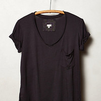 Garment-Dyed V-Neck