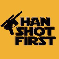 Han Shot First T-shirt - Funny, vintage, custom, cool, women's, men's and kids tees
