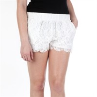 Mine Juniors Floral Lace Short at Von Maur
