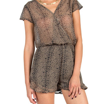 Animal Ruffle Bottom Romper
