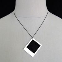 Long Live the Polaroid Photo Necklace Wear it plain by CABfayre
