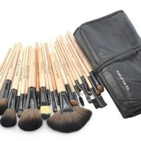 Crazycity Professional Cosmetic Makeup Brush Set with Bag (24pcs)