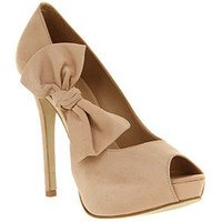 Kind Bow Court Nude Nubuck Shoes