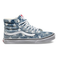 Vans Washed Stars Sk8-Hi Slim (blue)