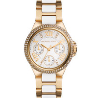 Michael Kors Mini Golden/Acetate Stainless Steel Camille Chronograph Glitz Watch