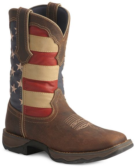 Creative  Boots Gt Durango Womens Lady Rebel American Flag PullOn Western Boot