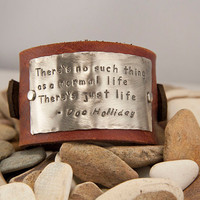 Leather cuffcustom there's not such thing as a by MichelleVerbeeck
