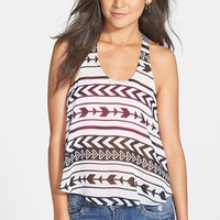 Lush Embroidered Strap Y-Back Tank (Juniors)
