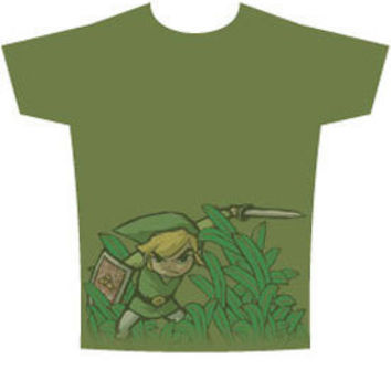 Link Cuts Weeds Legend Of Zelda T-shirt - Funny, vintage, custom, cool, women's, men's and kids tees