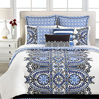 CLOSEOUT! Martha Stewart Collection Gazebo Flowers 6 Piece Queen Comforter Set