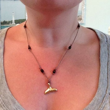 Whale Tail Hemp Necklace