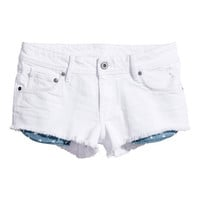 H&M - Denim Shorts - White - Ladies