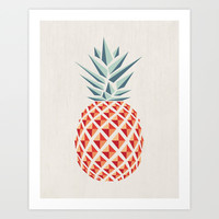 Pineapple Art Print by Basilique