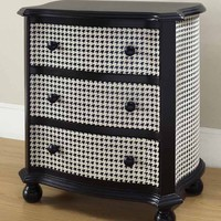 Midnight Houndstooth Accent Chest - Pulaski