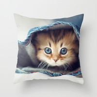 meow Throw Pillow by Max Jones | Society6
