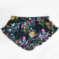 Gypsy Queen Barbarella Shorts - Black Floral | Spell & the Gypsy Collective