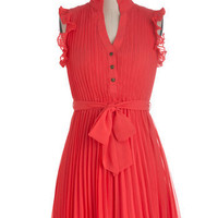 You're Grapefruit as a Button Dress | Mod Retro Vintage Dresses | ModCloth.com
