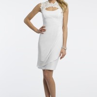 Jersey Dress with Lace Detail