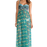 Maaji Underwire Maxi Dress in Green