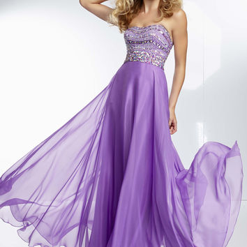 Mori Lee 95005 - Purple Strapless Beaded Prom Dresses Online