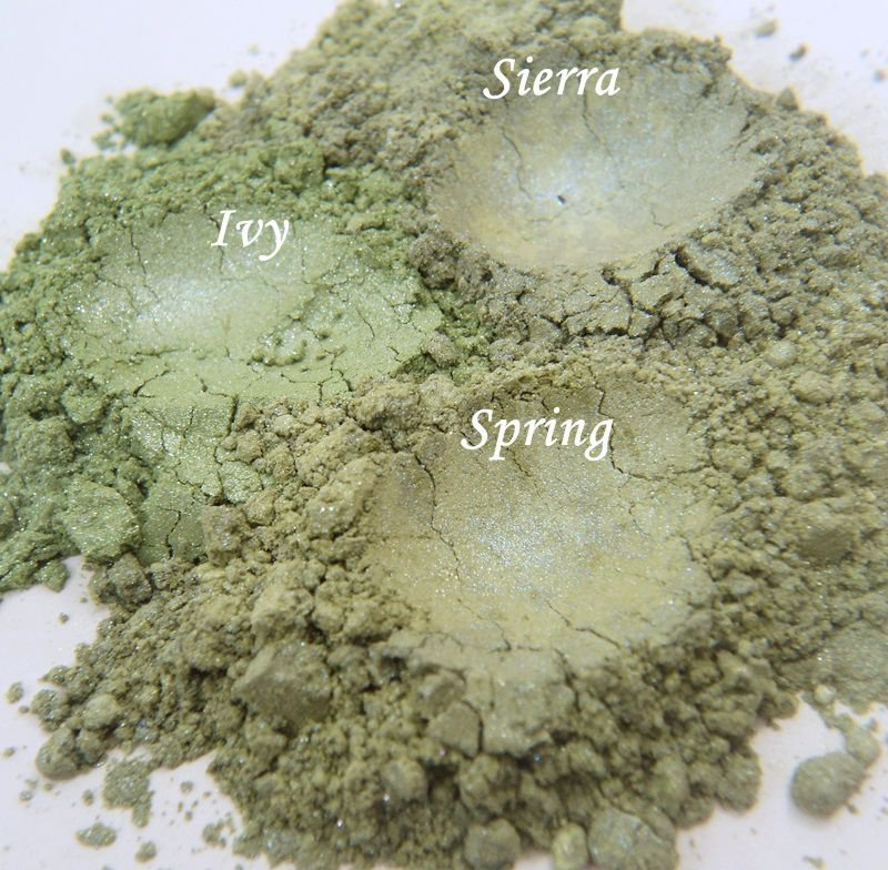 Spring Greens Mineral Eye Shadow Trio - Leonoras Cosmetics
