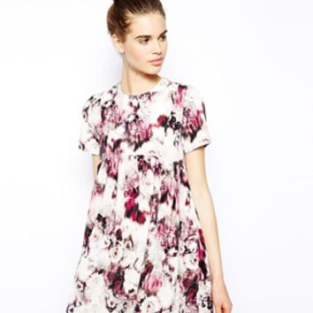Oh My Love Smock Dress in Dazed Floral Print