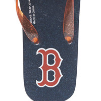 Boston Red Soz Flip Flops | Wet Seal